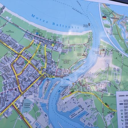 Stadtplan Swinemünde