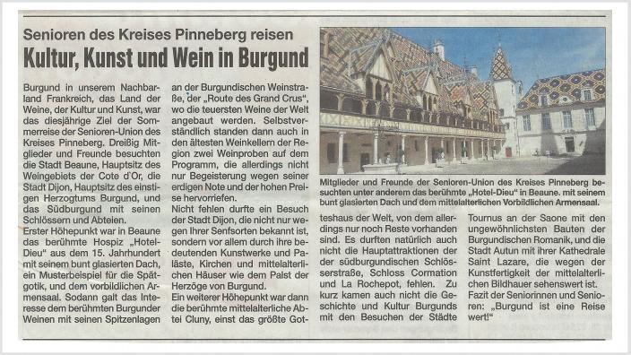 Kultur, Kunst und Wein in Burgund